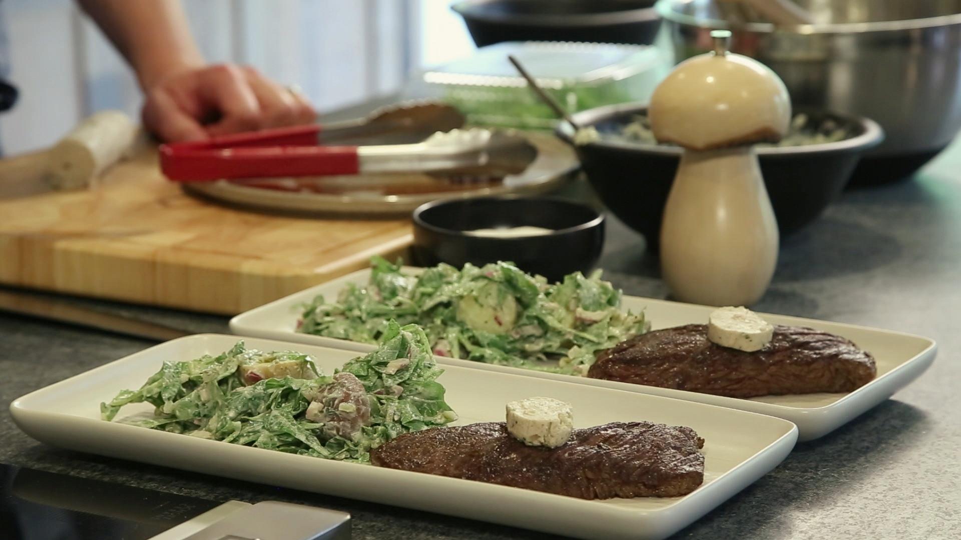 la cuisine par arnaud marchand bavette de b uf et salade. Black Bedroom Furniture Sets. Home Design Ideas