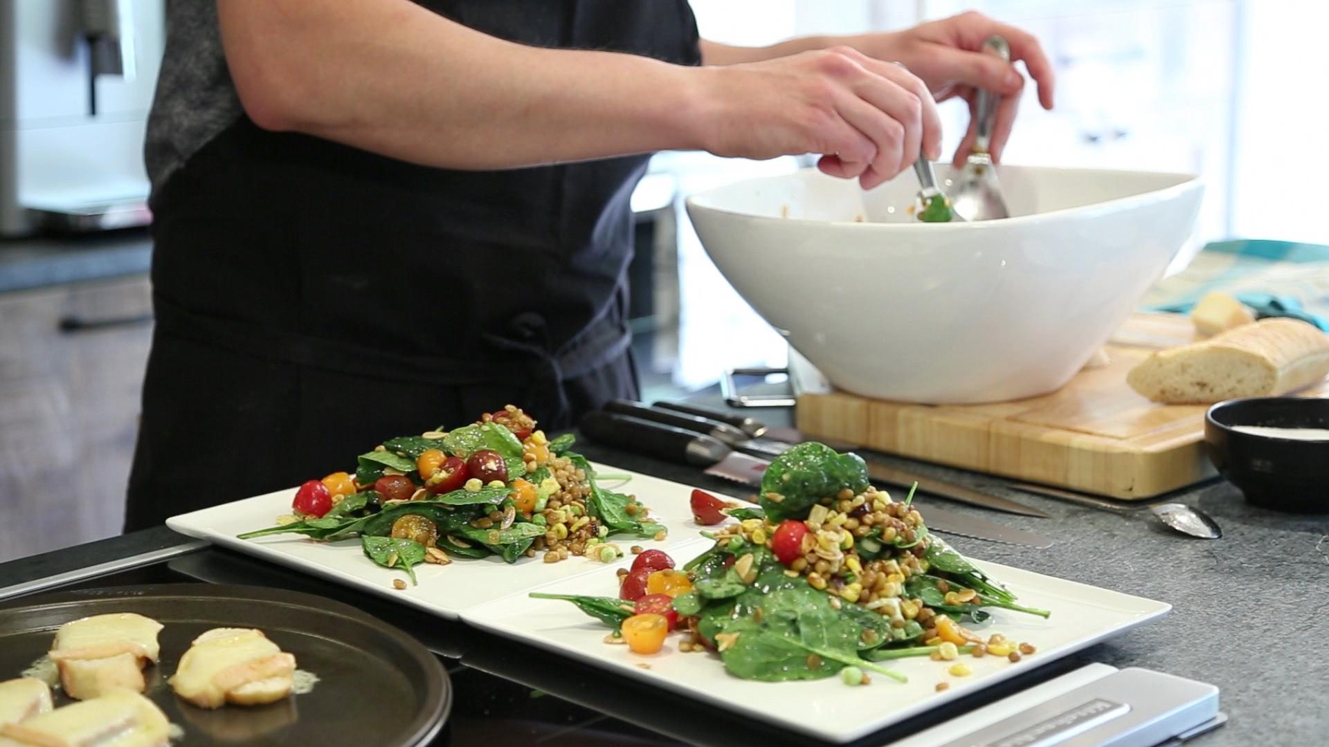 La cuisine par arnaud marchand salade de lentilles et for Marchand de cuisine