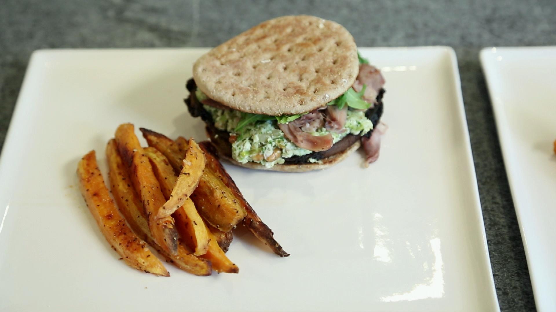la cuisine par arnaud marchand burger de portobello. Black Bedroom Furniture Sets. Home Design Ideas