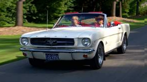 Ford Mustang 1965 avec Martin Fontaine