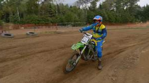 Initiation de Yannick au motocross